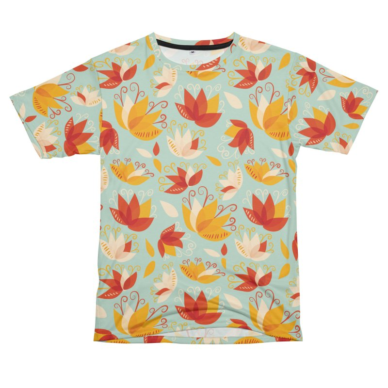 Abstract colorful lily flowers Women's Unisex T-Shirt Cut & Sew by Boriana's Artist Shop