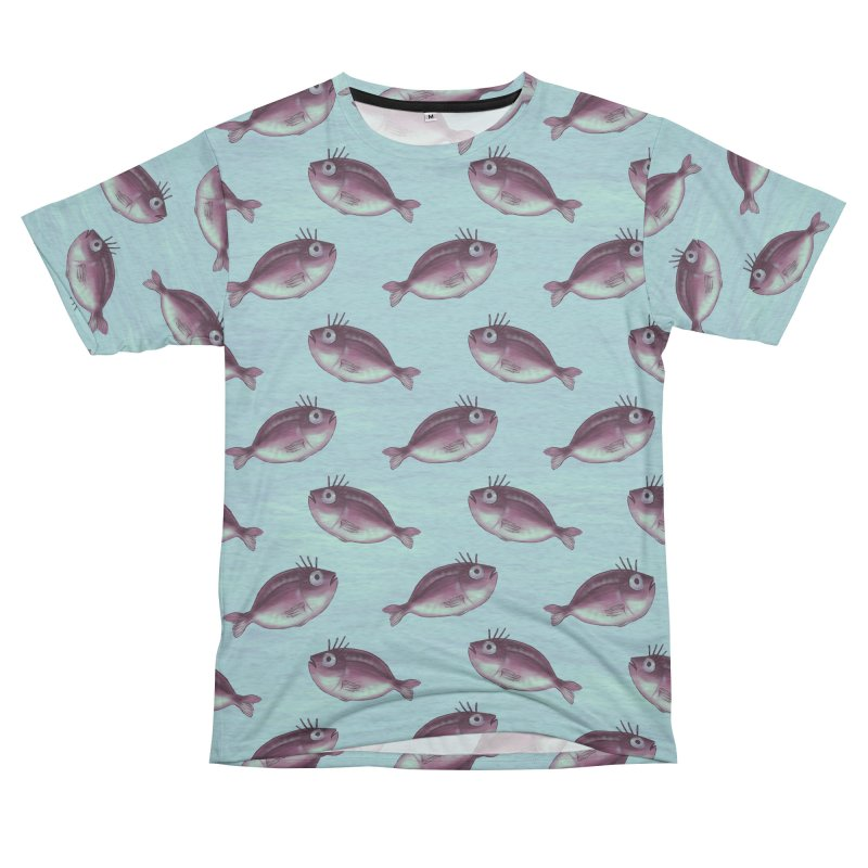 Funny Fish With Fancy Eyelashes Men's French Terry T-Shirt Cut & Sew by Boriana's Artist Shop