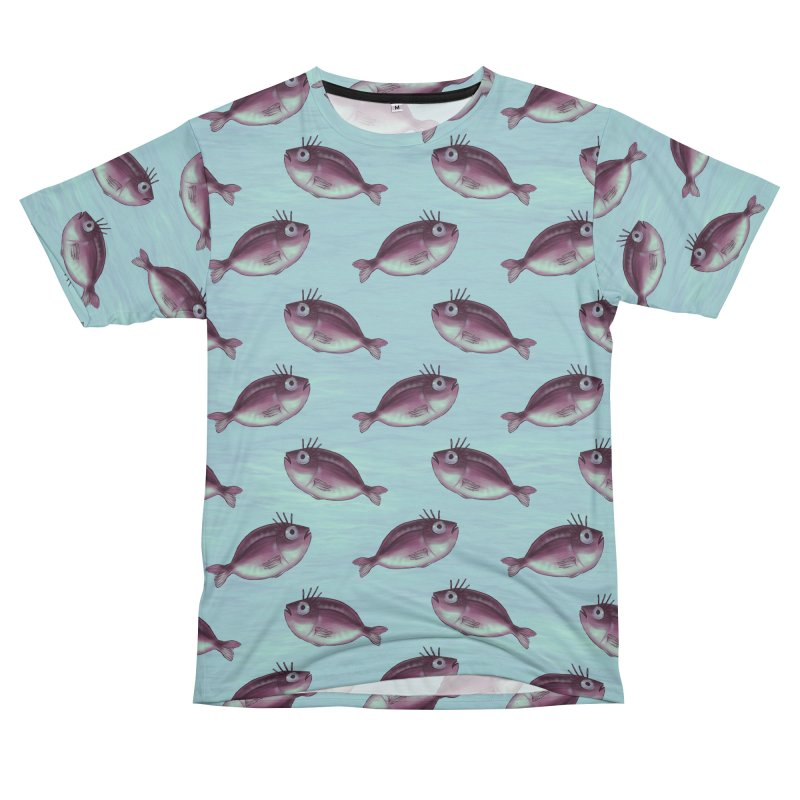Funny Fish With Fancy Eyelashes Women's Unisex T-Shirt Cut & Sew by Boriana's Artist Shop
