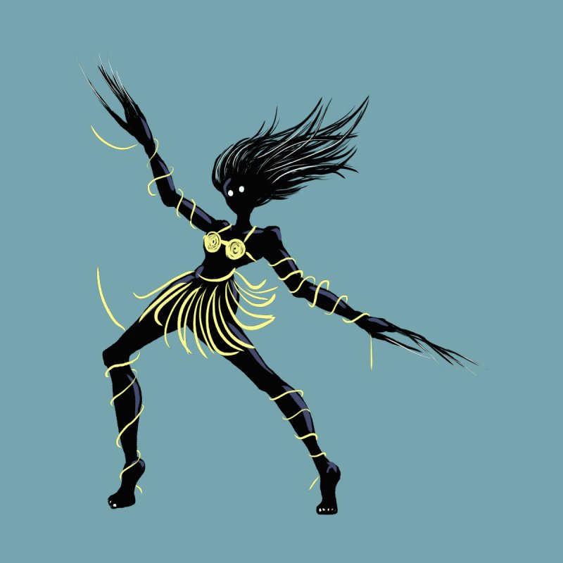 Dark Creepy Midnight Dancing Girl by Boriana's Artist Shop