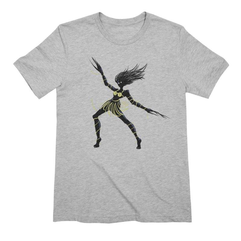 Dark Creepy Midnight Dancing Girl Men's Extra Soft T-Shirt by Boriana's Artist Shop