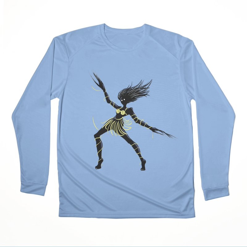 Dark Creepy Midnight Dancing Girl Men's Performance Longsleeve T-Shirt by Boriana's Artist Shop