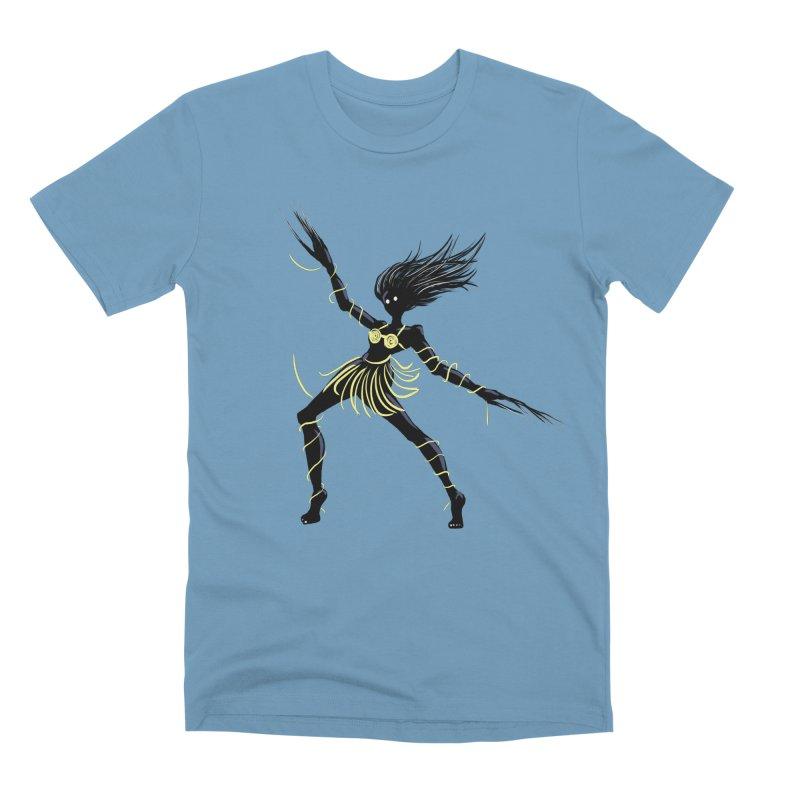 Dark Creepy Midnight Dancing Girl Men's Premium T-Shirt by Boriana's Artist Shop