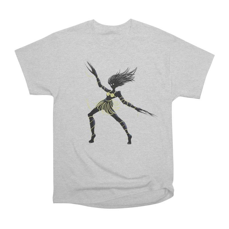 Dark Creepy Midnight Dancing Girl Men's Heavyweight T-Shirt by Boriana's Artist Shop