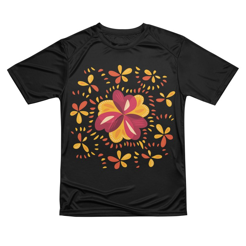 Abstract Clovers In Pink And Yellow Women's Performance Unisex T-Shirt by Boriana's Artist Shop