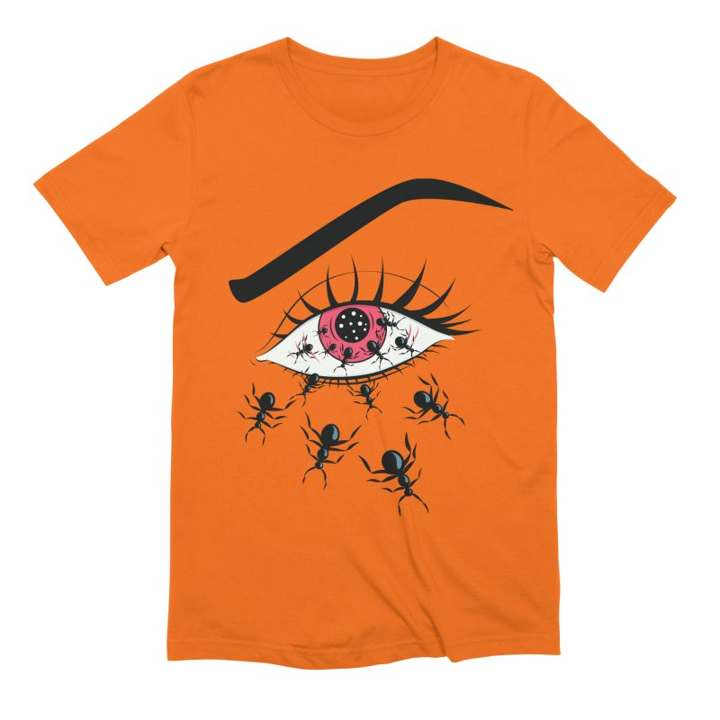 Creepy Red Eye With Ants Men's Extra Soft T-Shirt by Boriana's Artist Shop