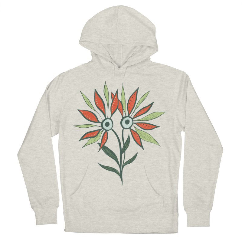 Funny Flower Monster With Big Eyes Women's French Terry Pullover Hoody by Boriana's Artist Shop