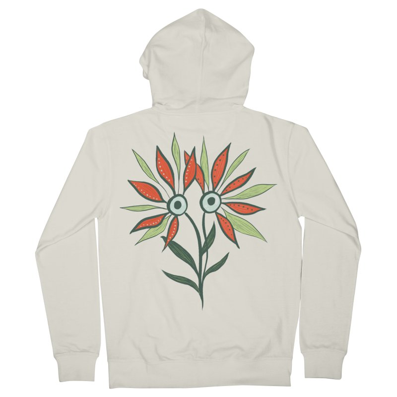 Funny Flower Monster With Big Eyes Women's French Terry Zip-Up Hoody by Boriana's Artist Shop