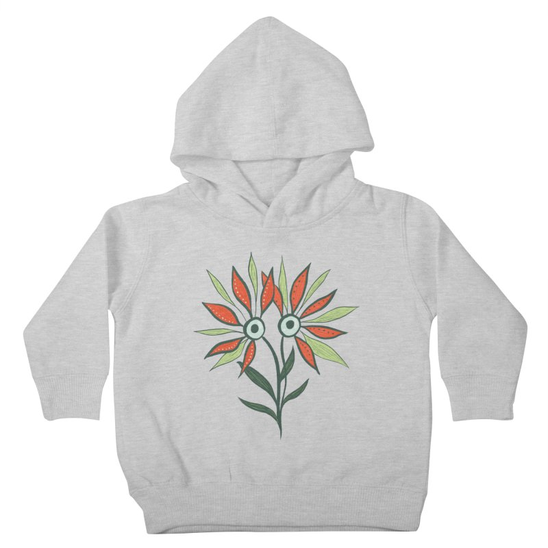 Funny Flower Monster With Big Eyes Kids Toddler Pullover Hoody by Boriana's Artist Shop