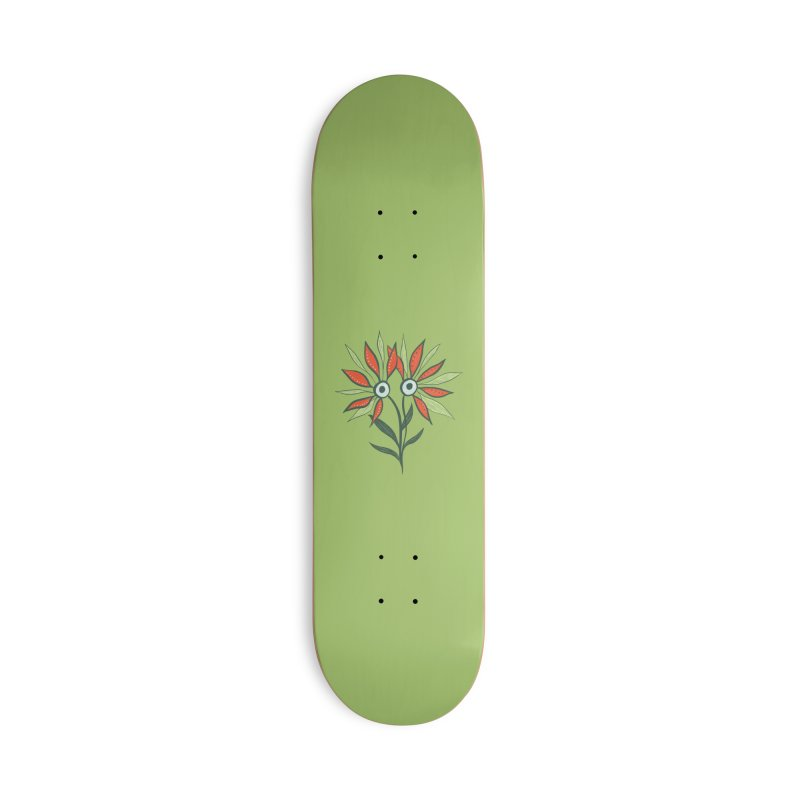 Funny Flower Monster With Big Eyes Accessories Deck Only Skateboard by Boriana's Artist Shop