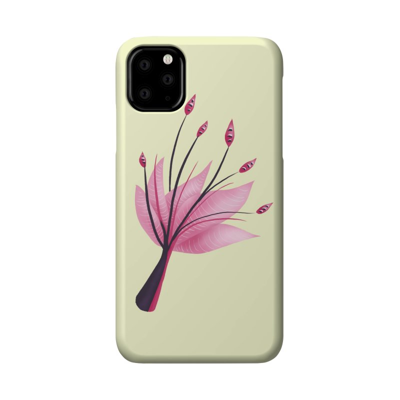 Pink Abstract Water Lily Flower Accessories Phone Case by Boriana's Artist Shop