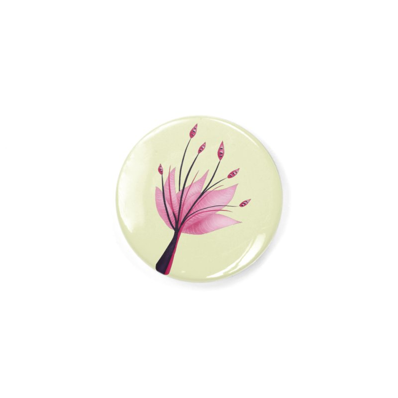 Pink Abstract Water Lily Flower Accessories Button by Boriana's Artist Shop