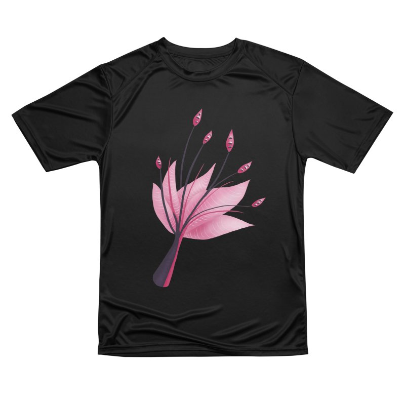 Pink Abstract Water Lily Flower Women's Performance Unisex T-Shirt by Boriana's Artist Shop