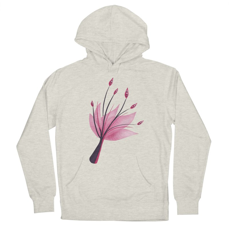 Pink Abstract Water Lily Flower Women's French Terry Pullover Hoody by Boriana's Artist Shop