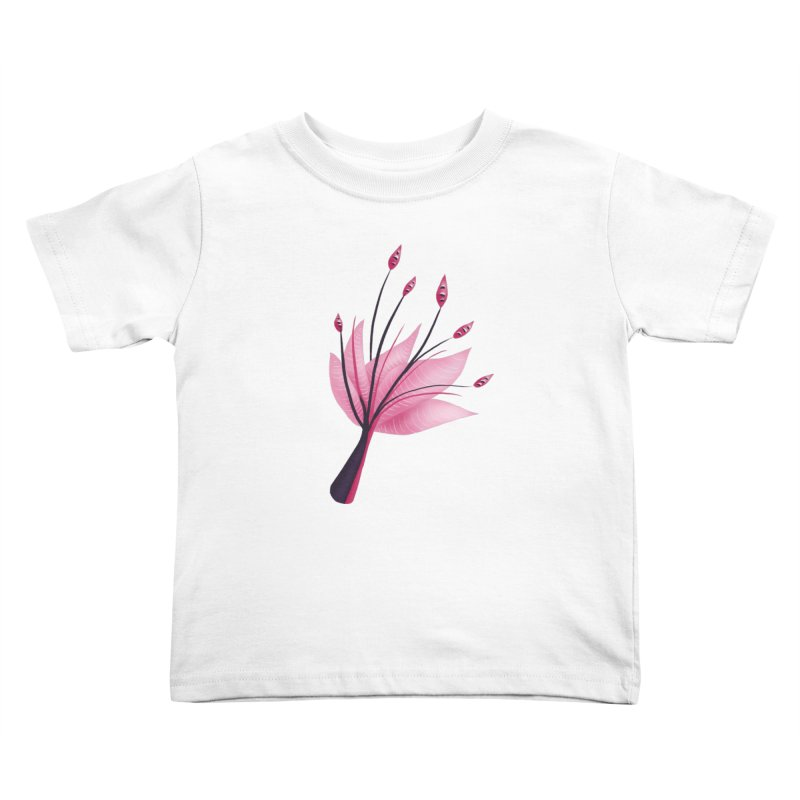 Pink Abstract Water Lily Flower Kids Toddler T-Shirt by Boriana's Artist Shop