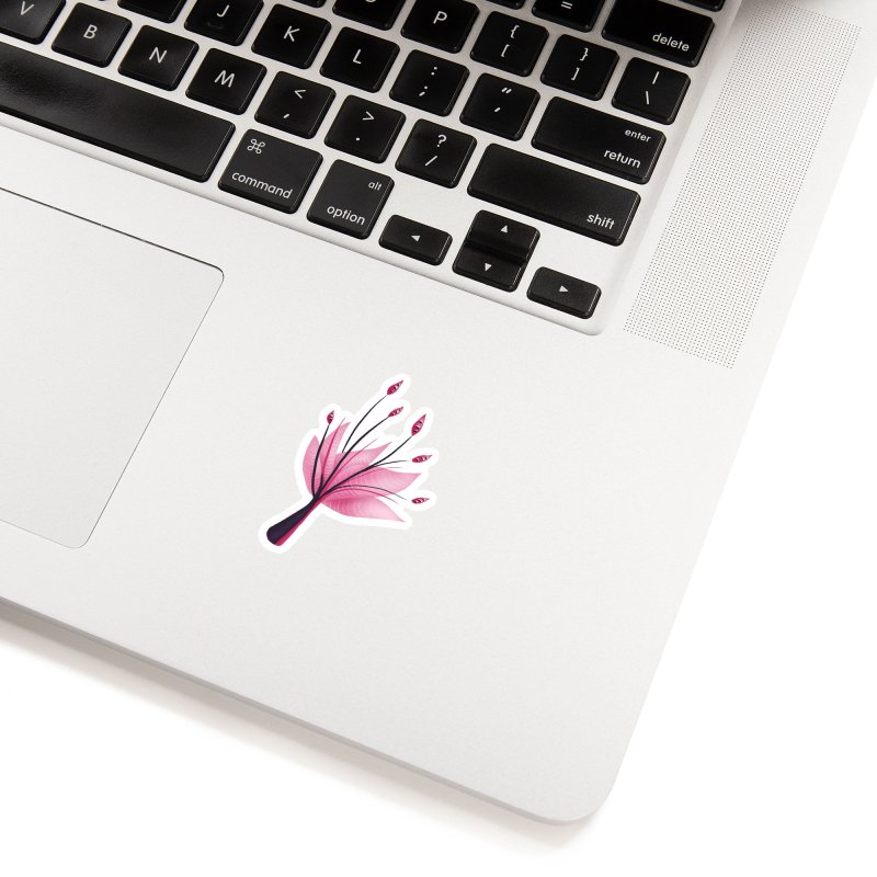 Pink Abstract Water Lily Flower Accessories Sticker by Boriana's Artist Shop