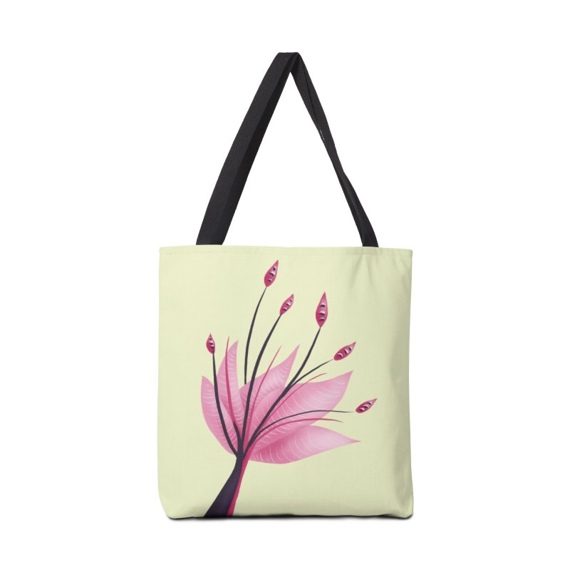 Pink Abstract Water Lily Flower Accessories Tote Bag Bag by Boriana's Artist Shop