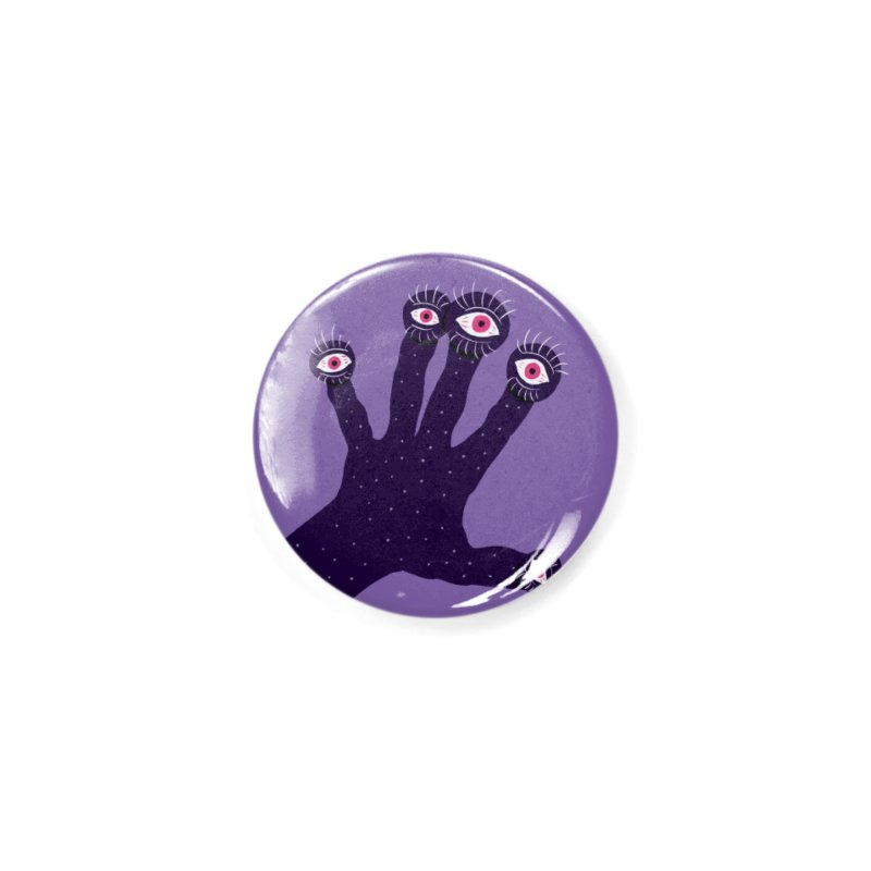 Weird Hand With Watching Eyes Accessories Button by Boriana's Artist Shop