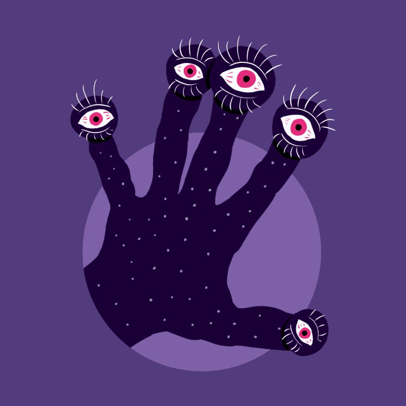 Weird Hand With Watching Eyes by Boriana's Artist Shop