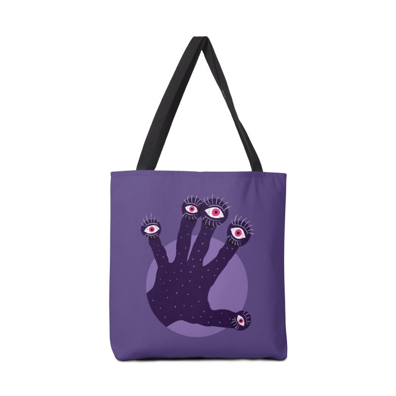 Weird Hand With Watching Eyes Accessories Tote Bag Bag by Boriana's Artist Shop
