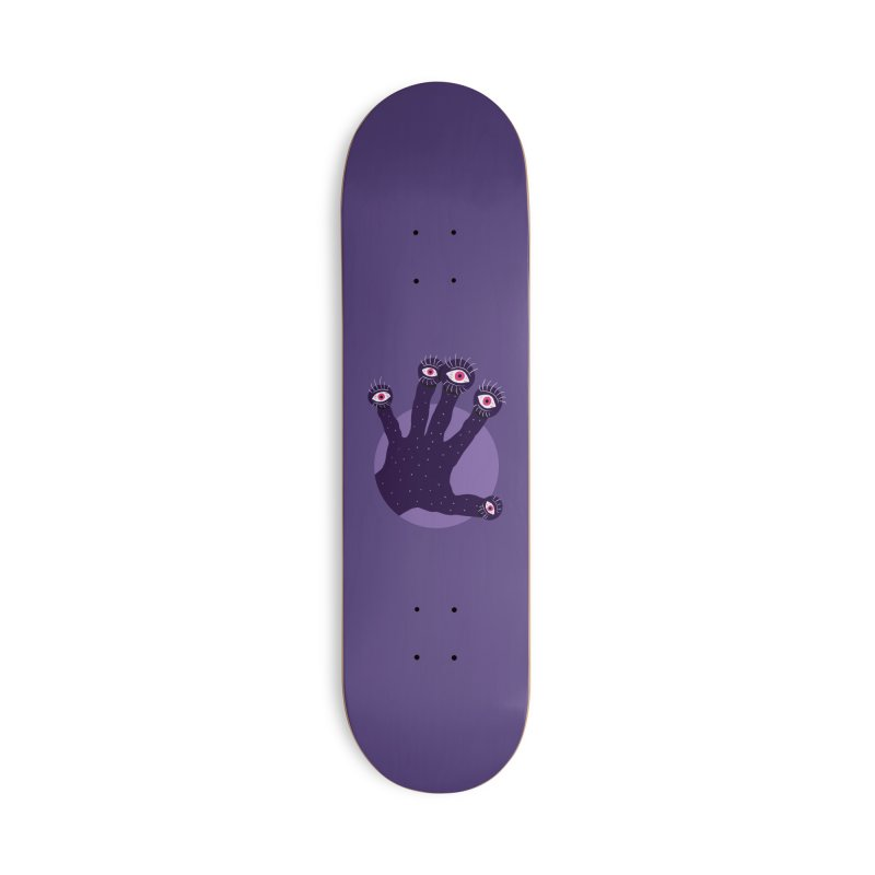 Weird Hand With Watching Eyes Accessories Deck Only Skateboard by Boriana's Artist Shop