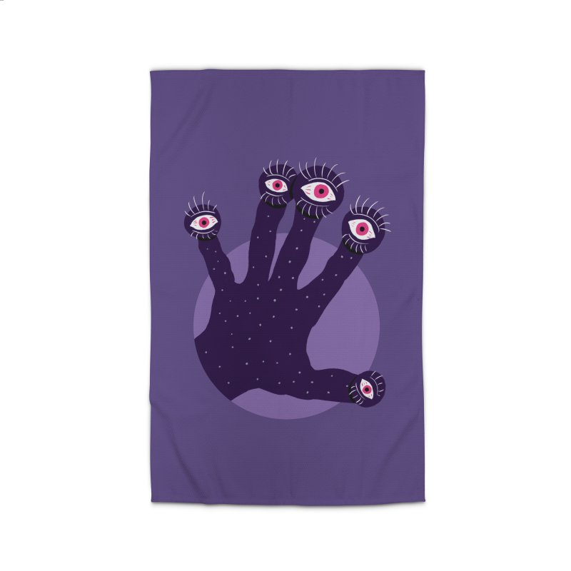 Weird Hand With Watching Eyes Home Rug by Boriana's Artist Shop