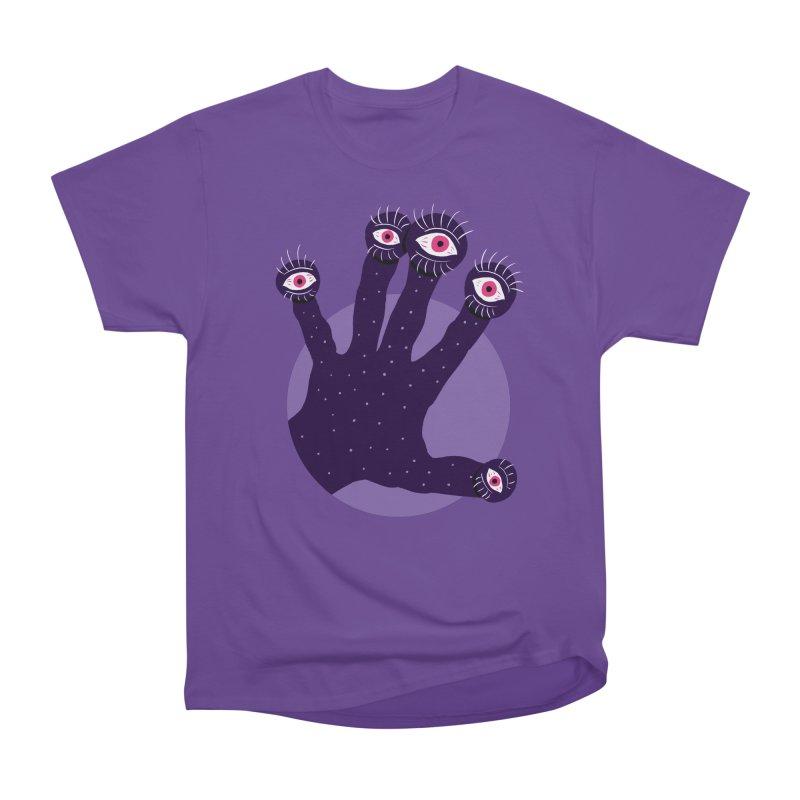 Weird Hand With Watching Eyes Women's Heavyweight Unisex T-Shirt by Boriana's Artist Shop