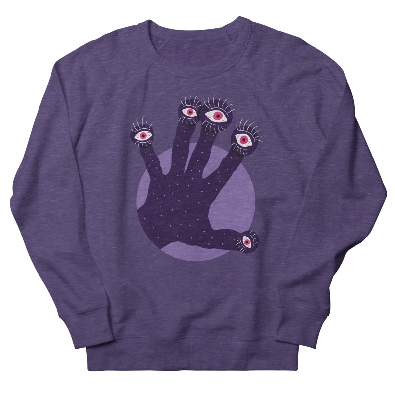 Weird Hand With Watching Eyes Men's French Terry Sweatshirt by Boriana's Artist Shop