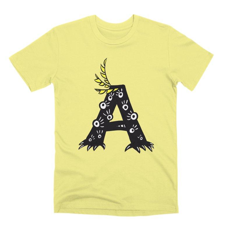 Letter A Funny Monster Men's Premium T-Shirt by Boriana's Artist Shop
