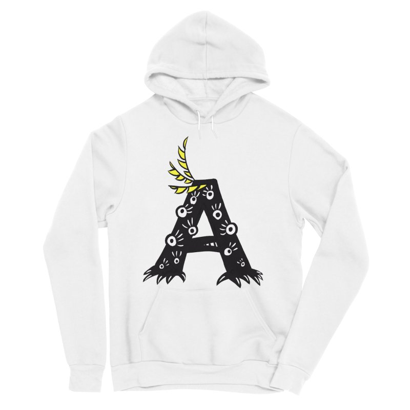 Letter A Funny Monster Women's Sponge Fleece Pullover Hoody by Boriana's Artist Shop