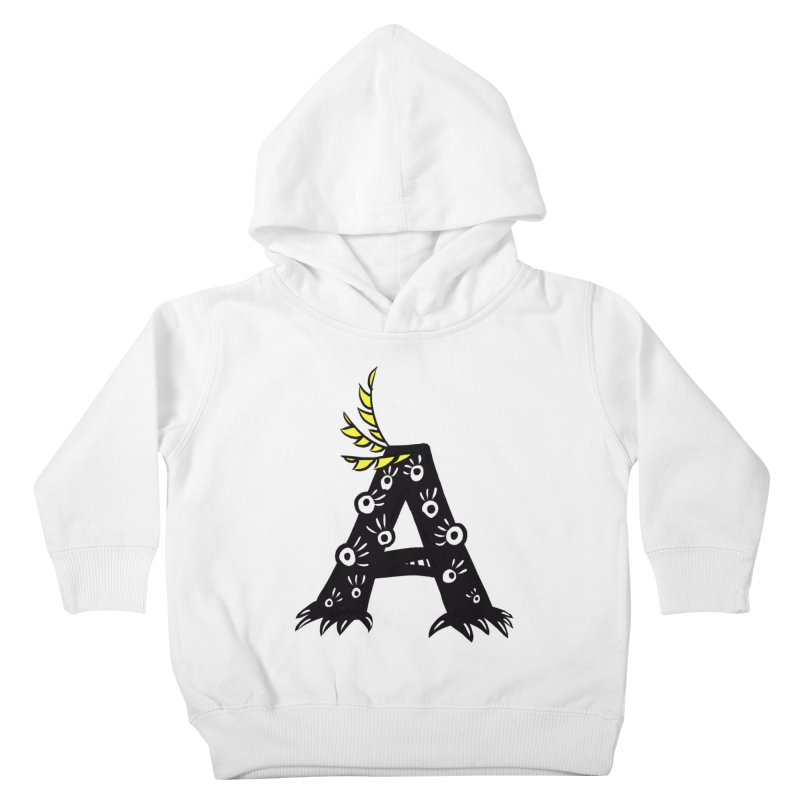 Letter A Funny Monster Kids Toddler Pullover Hoody by Boriana's Artist Shop