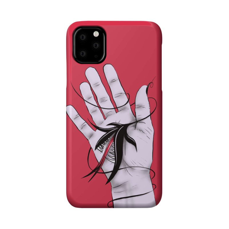 Creepy Gothic Hand Biting Flower Monster Weird Art Accessories Phone Case by Boriana's Artist Shop