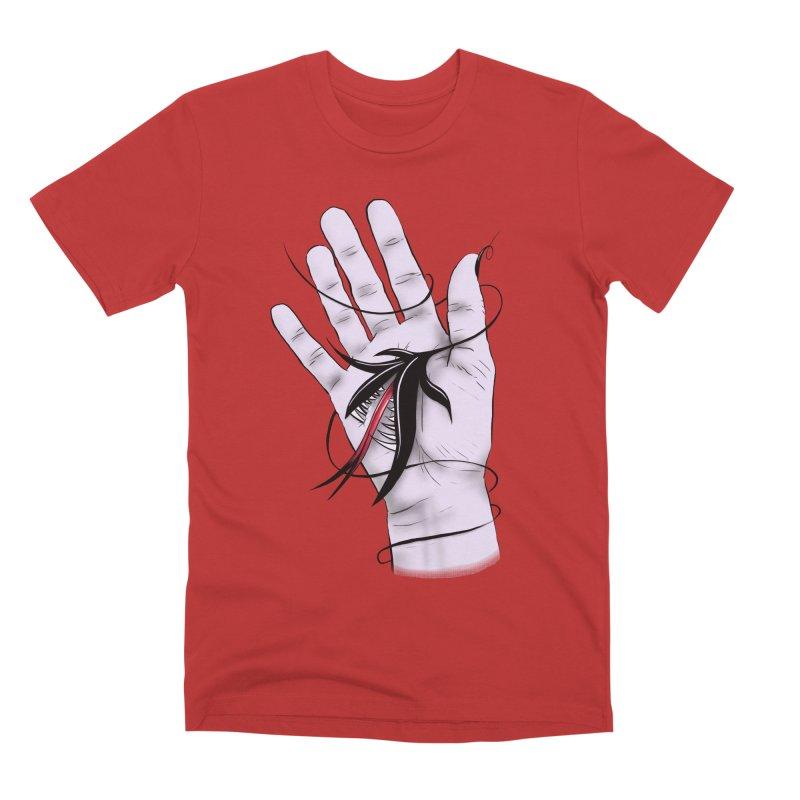 Creepy Gothic Hand Biting Flower Monster Weird Art Men's Premium T-Shirt by Boriana's Artist Shop
