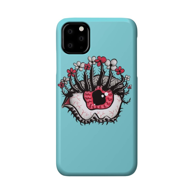 Weird Eye Melt Creepy Psycho Psychedelic Art Accessories Phone Case by Boriana's Artist Shop