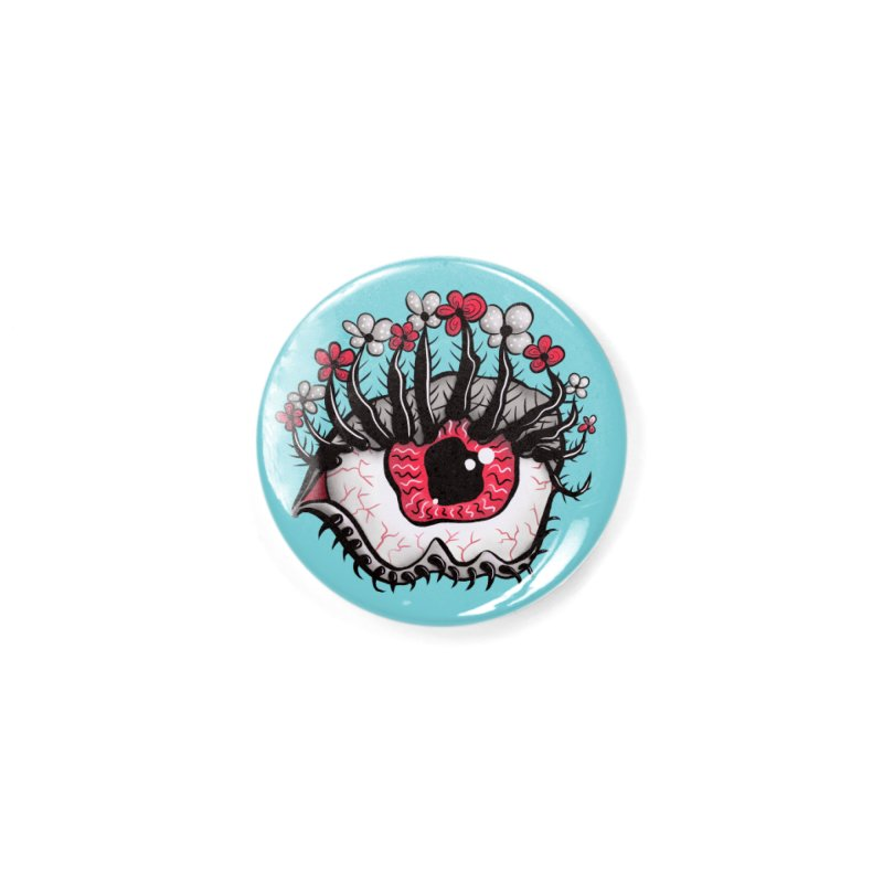 Weird Eye Melt Creepy Psycho Psychedelic Art Accessories Button by Boriana's Artist Shop