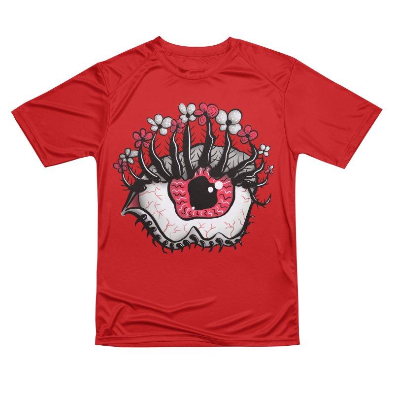 Weird Eye Melt Creepy Psycho Psychedelic Art Women's Performance Unisex T-Shirt by Boriana's Artist Shop