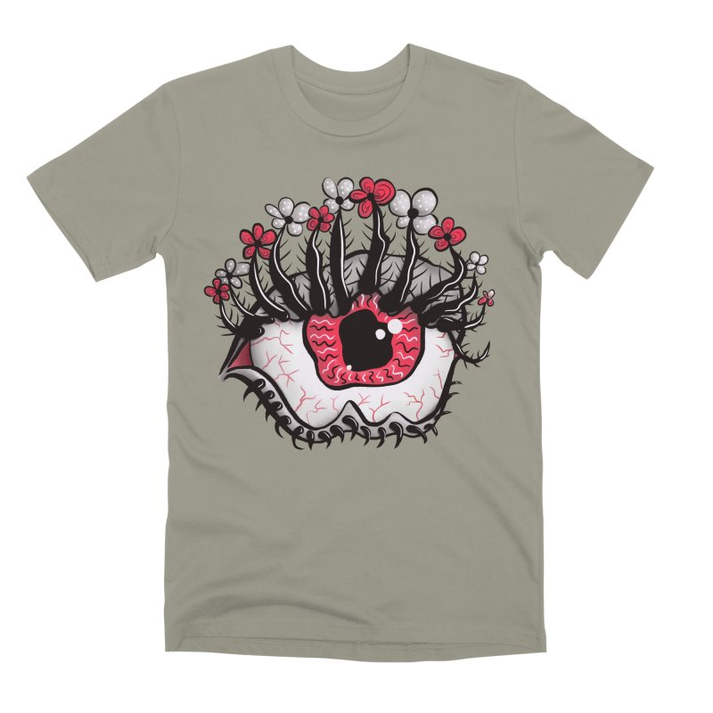 Weird Eye Melt Creepy Psycho Psychedelic Art Men's Premium T-Shirt by Boriana's Artist Shop