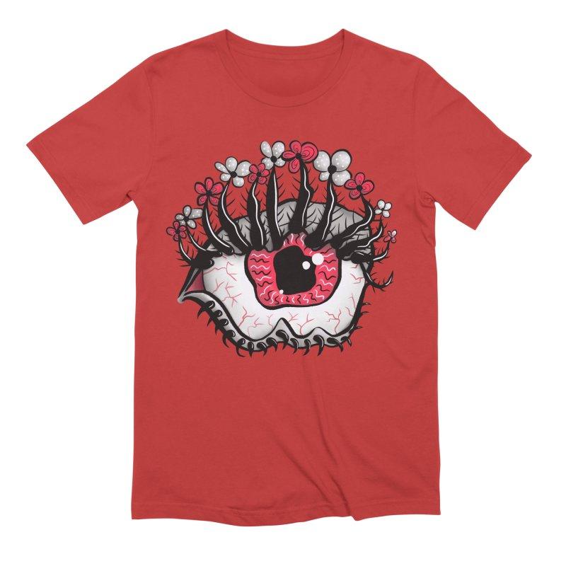 Weird Eye Melt Creepy Psycho Psychedelic Art Men's Extra Soft T-Shirt by Boriana's Artist Shop