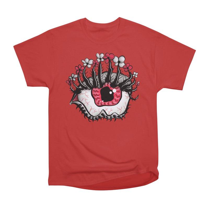 Weird Eye Melt Creepy Psycho Psychedelic Art Women's Heavyweight Unisex T-Shirt by Boriana's Artist Shop