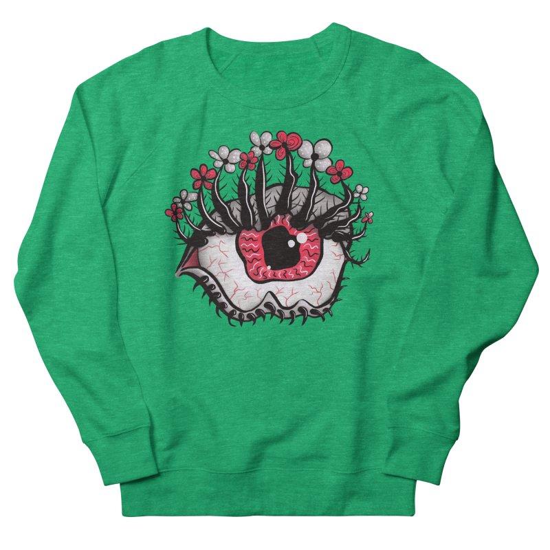 Weird Eye Melt Creepy Psycho Psychedelic Art Men's French Terry Sweatshirt by Boriana's Artist Shop