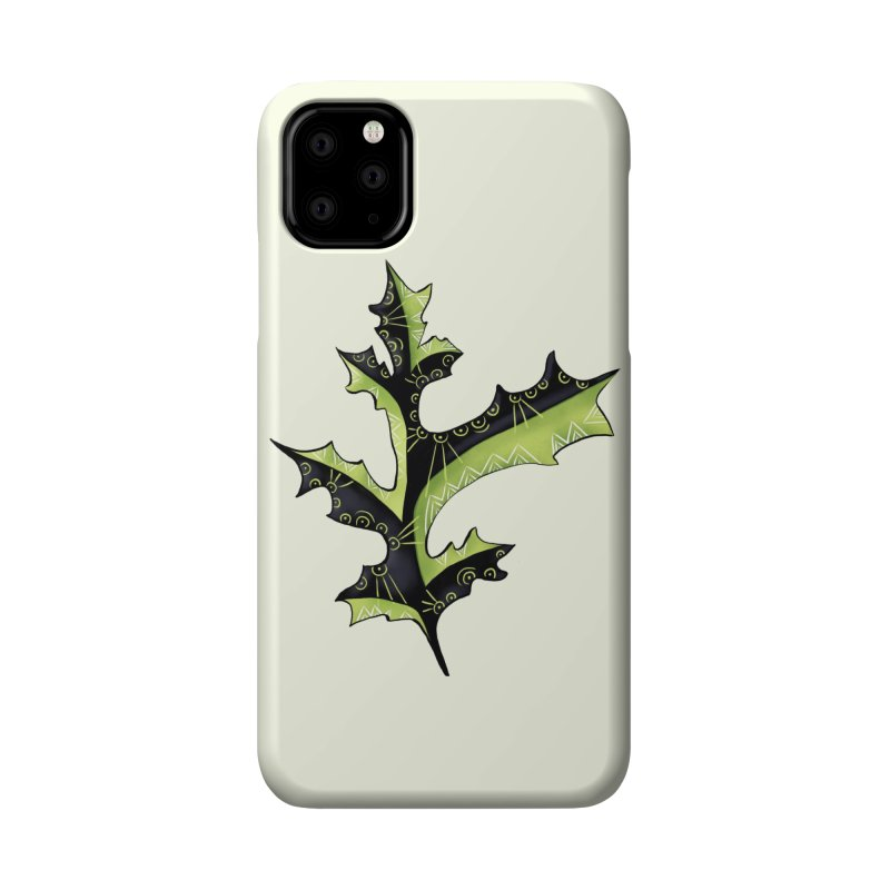 Tattooed Oak Leaf Accessories Phone Case by Boriana's Artist Shop