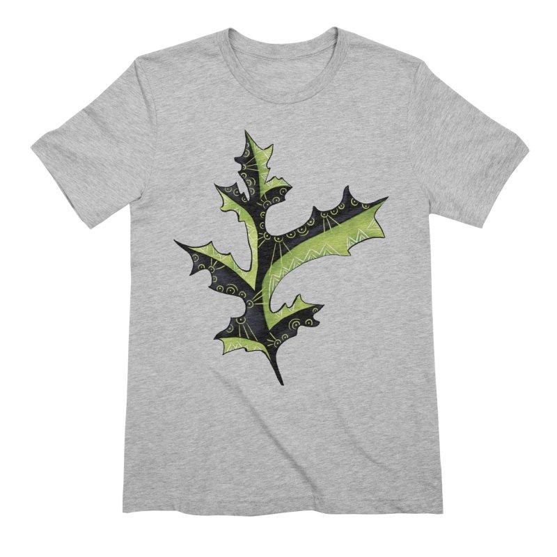 Tattooed Oak Leaf Men's Extra Soft T-Shirt by Boriana's Artist Shop
