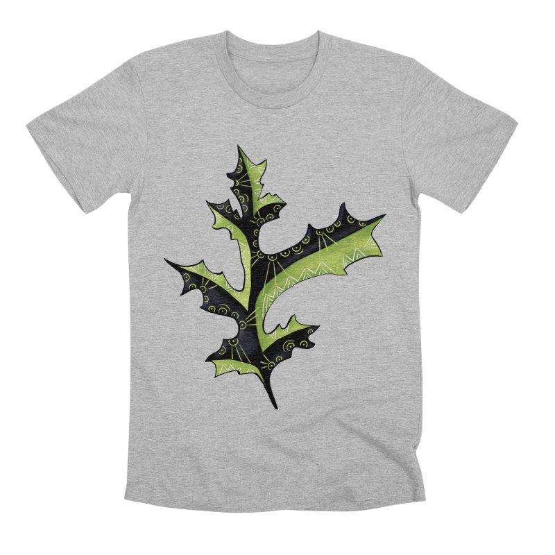 Tattooed Oak Leaf Men's Premium T-Shirt by Boriana's Artist Shop
