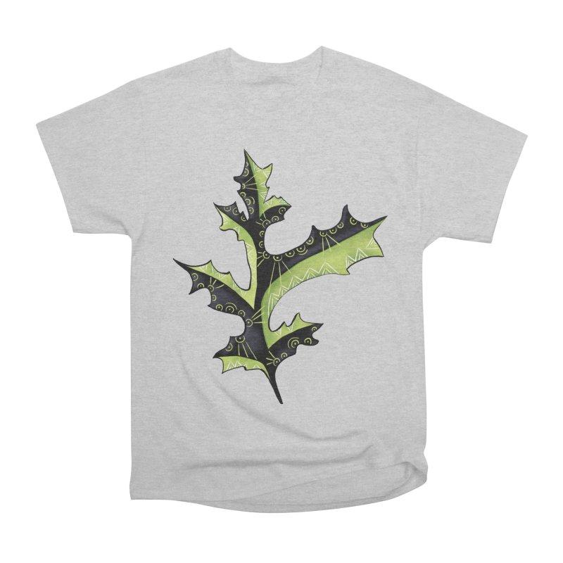 Tattooed Oak Leaf Women's Heavyweight Unisex T-Shirt by Boriana's Artist Shop