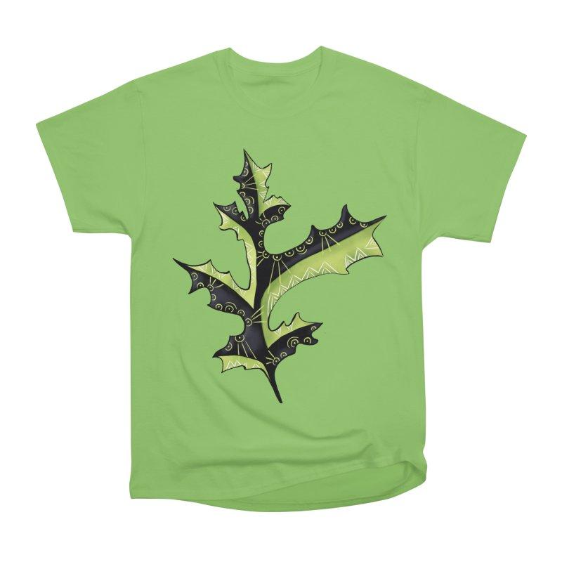 Tattooed Oak Leaf Men's Heavyweight T-Shirt by Boriana's Artist Shop