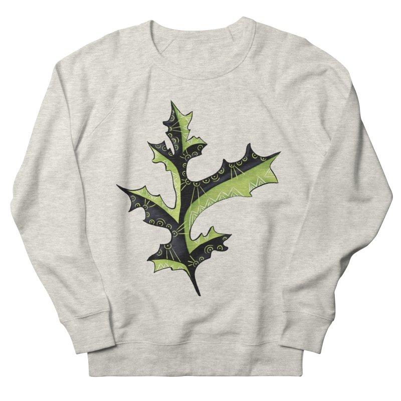 Tattooed Oak Leaf Men's French Terry Sweatshirt by Boriana's Artist Shop