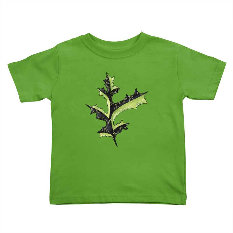 Tattooed Oak Leaf Kids Toddler T-Shirt by Boriana's Artist Shop
