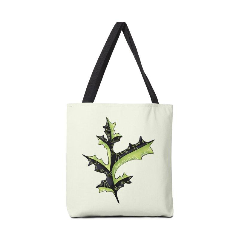 Tattooed Oak Leaf Accessories Tote Bag Bag by Boriana's Artist Shop