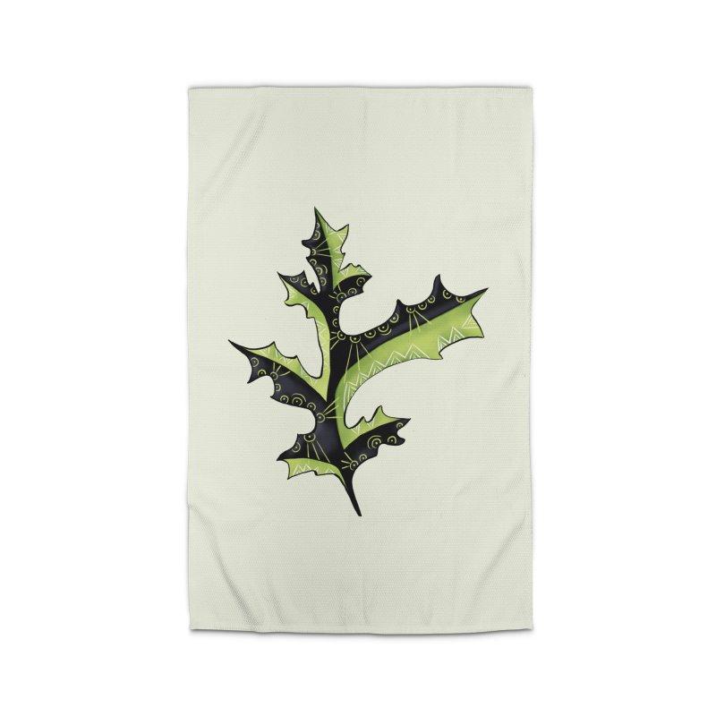 Tattooed Oak Leaf Home Rug by Boriana's Artist Shop