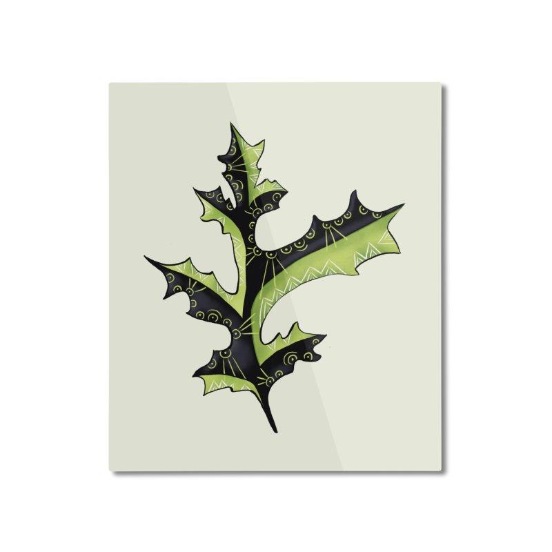 Tattooed Oak Leaf Home Mounted Aluminum Print by Boriana's Artist Shop